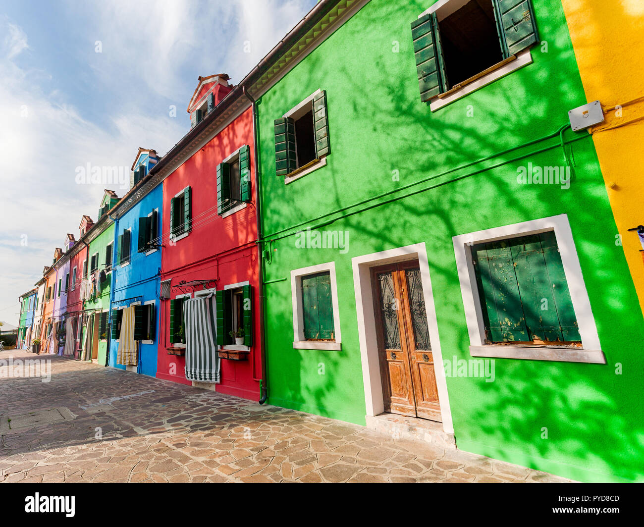 The colorful fishermen's houses in Burano, Italy Stock Photo