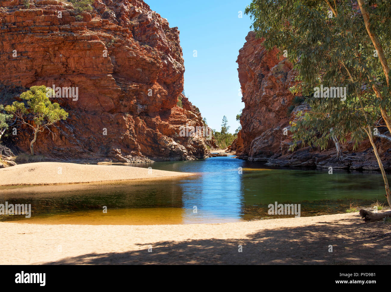 Ellery Creek Big Hole, MacDonnell Ranges, Northern Territory, Australia Stock Photo