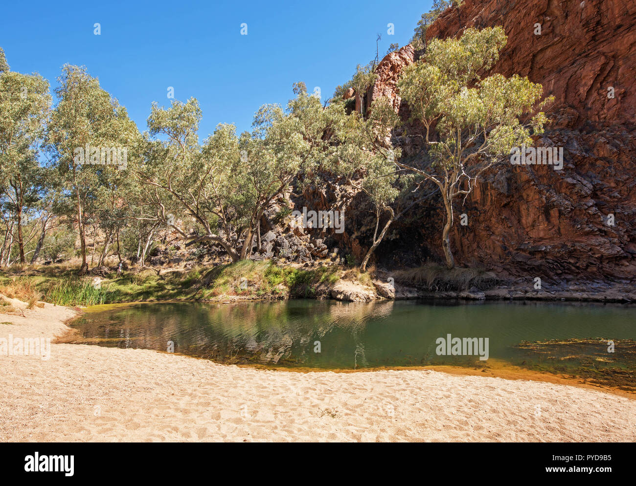 Ellery Creek Big Hole, MacDonnell Ranges, Northern Territory, Australia Stock Photo