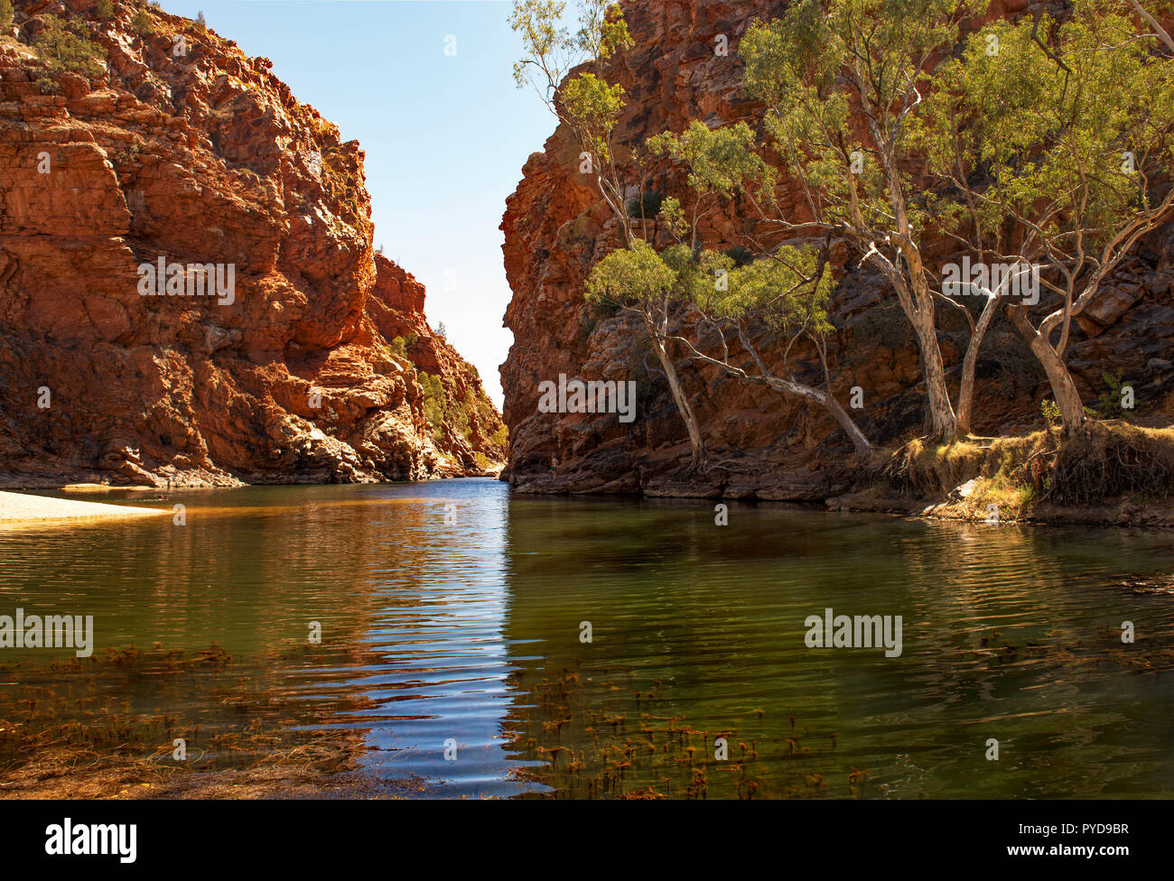 Ellery Creek Big Hole, MacDonnell Ranges, Northern Territory, Australia - Stock Image