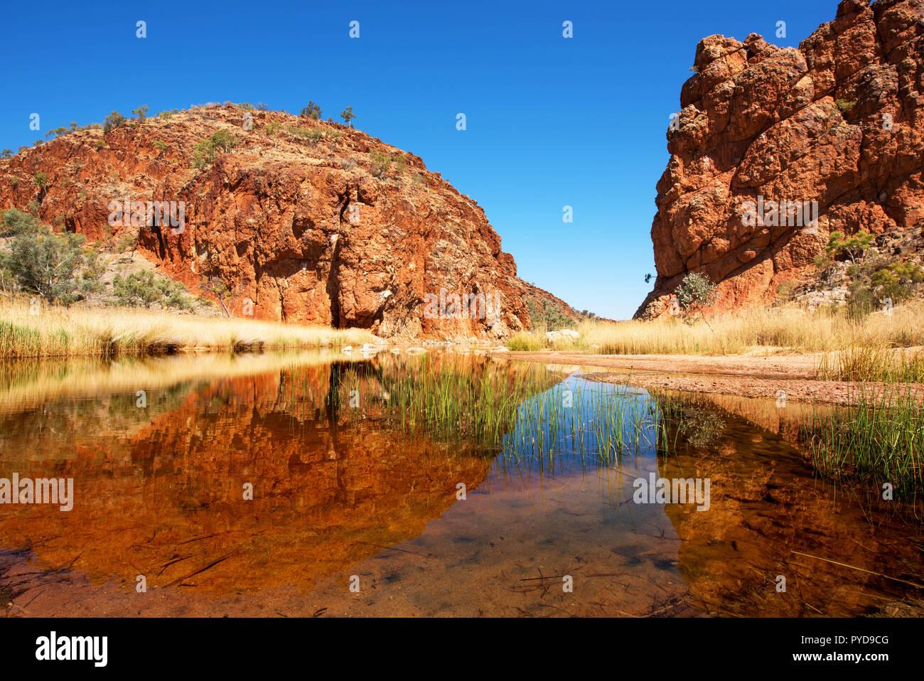 Glen Helen Gorge, MacDonnell Ranges, Northern Territory, Australia - Stock Image