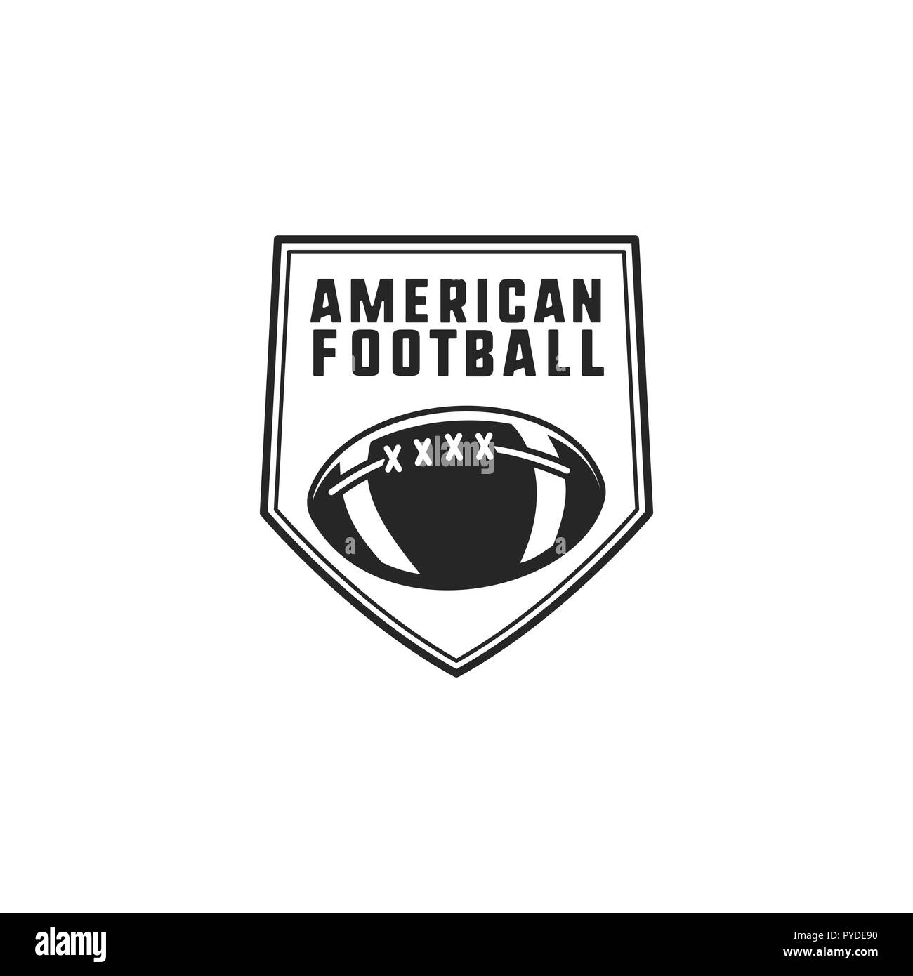 American Football Logo Emblem Usa Sports Badge In Silhouette Style