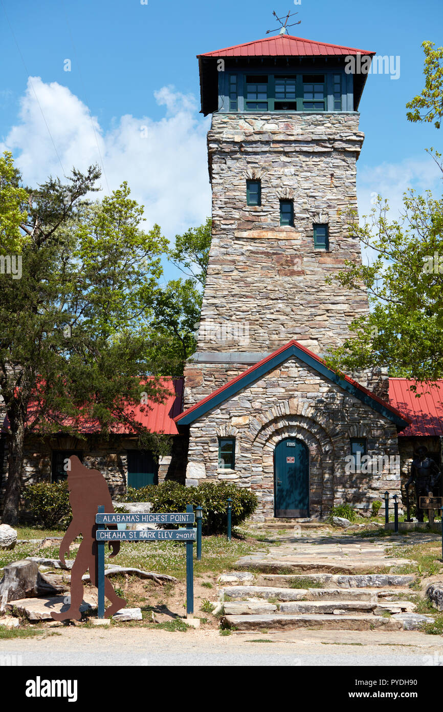 Cheaha State Park Observation tower, Alabama - Stock Image