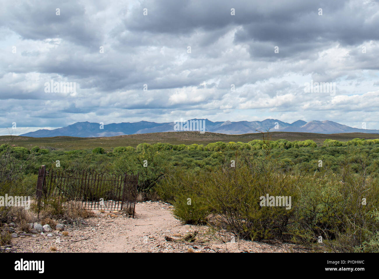 Fairbank Cemetery. Cochise County, Arizona. USA Stock Photo