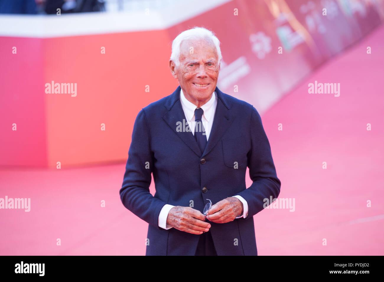 Rome, Italy  26th Oct, 2018  Giorgio Armani Red Carpet in memorie of