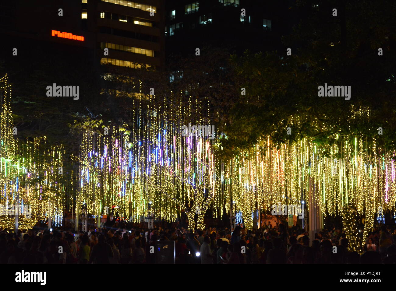 Ayala Triangle Garden Lights and Sound Show Makati Philippines - Stock Image