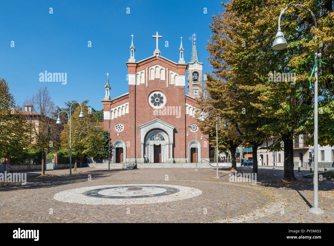 Rescaldina, province of Milan, Italy. Church saints Bernard and Joseph located in the historical center of the city - Stock Image