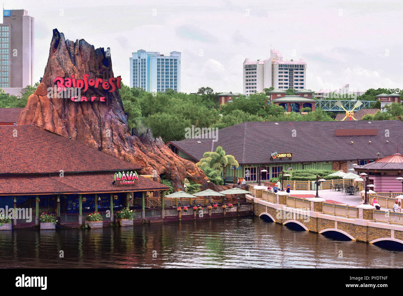Orlando Florida Usa July 29 2018 Disney Springs Waterview