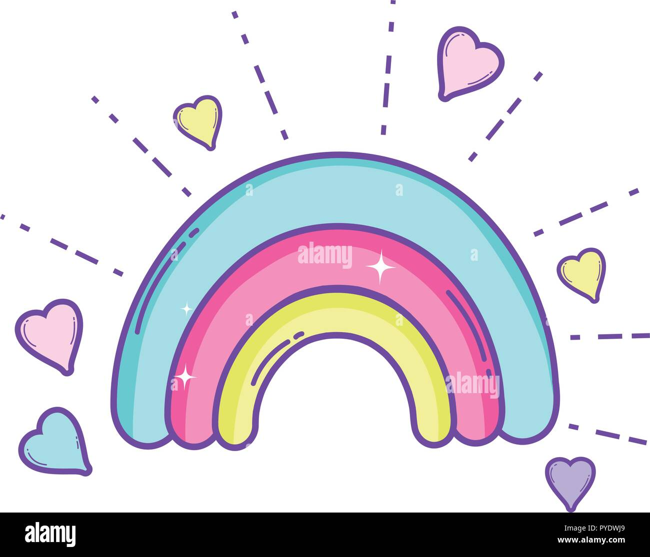 Cute rainbow cartoon Stock Vector Image & Art - Alamy