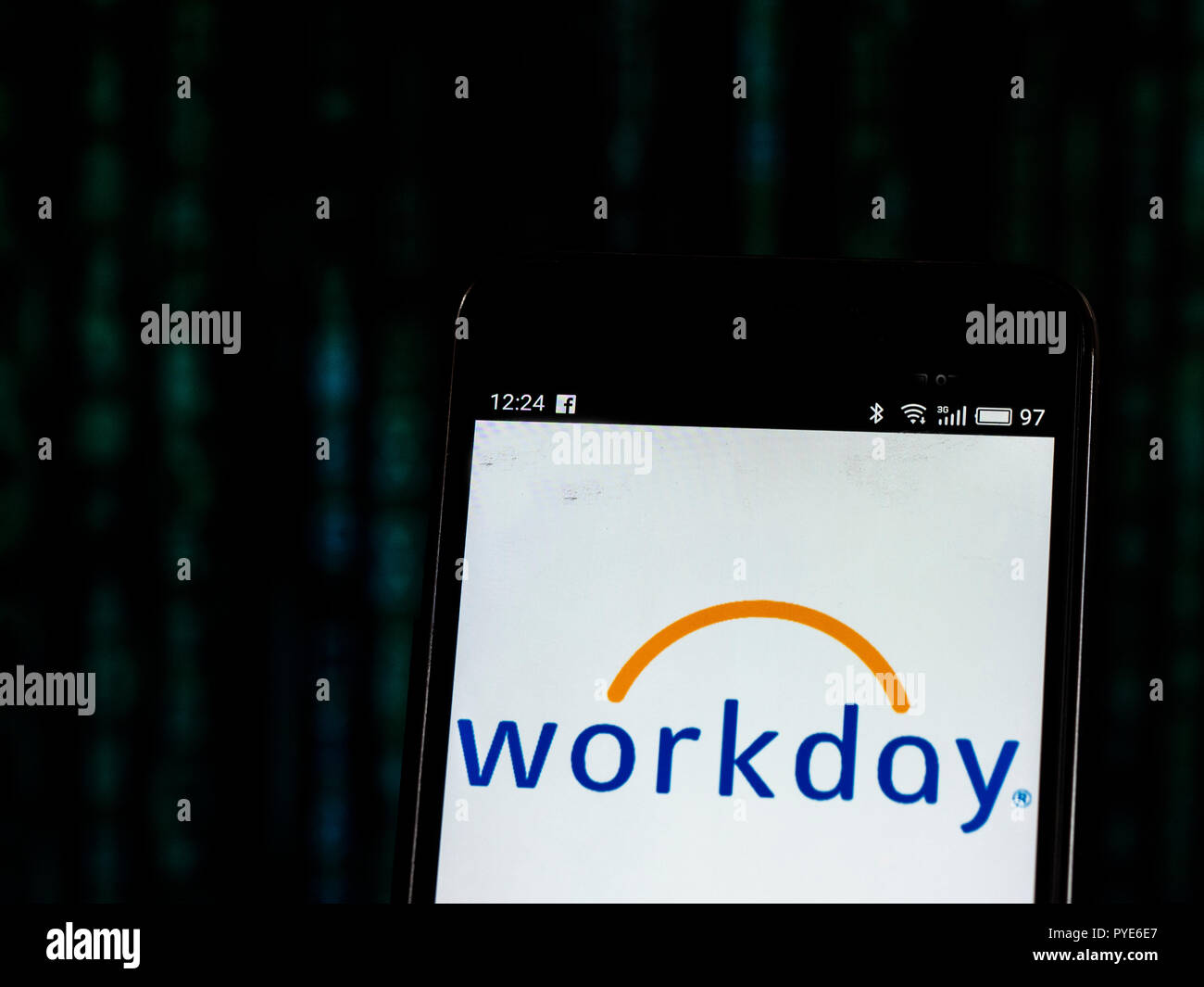 Workday, Inc  Software company logo seen displayed on smart