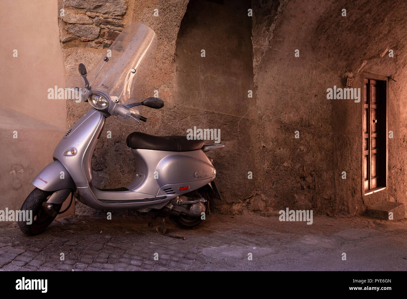 Scooter at Bagolino in northern Italy - Stock Image