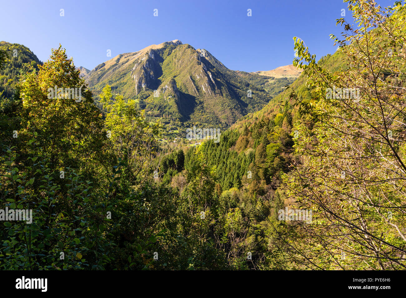 Mountains near Bagolino in northern Italy - Stock Image