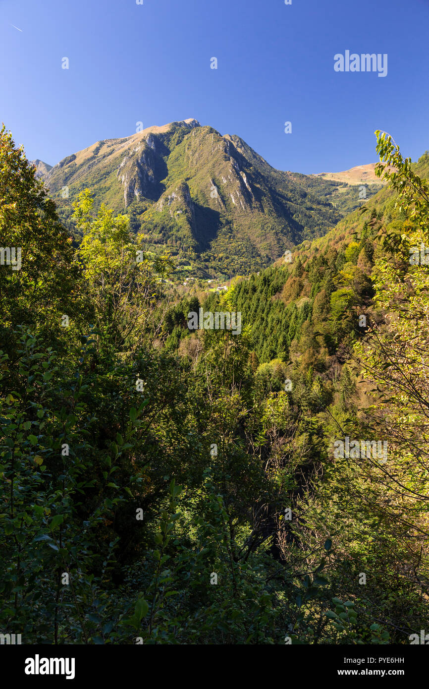 Mountains near Bagolino in northern Italy Stock Photo