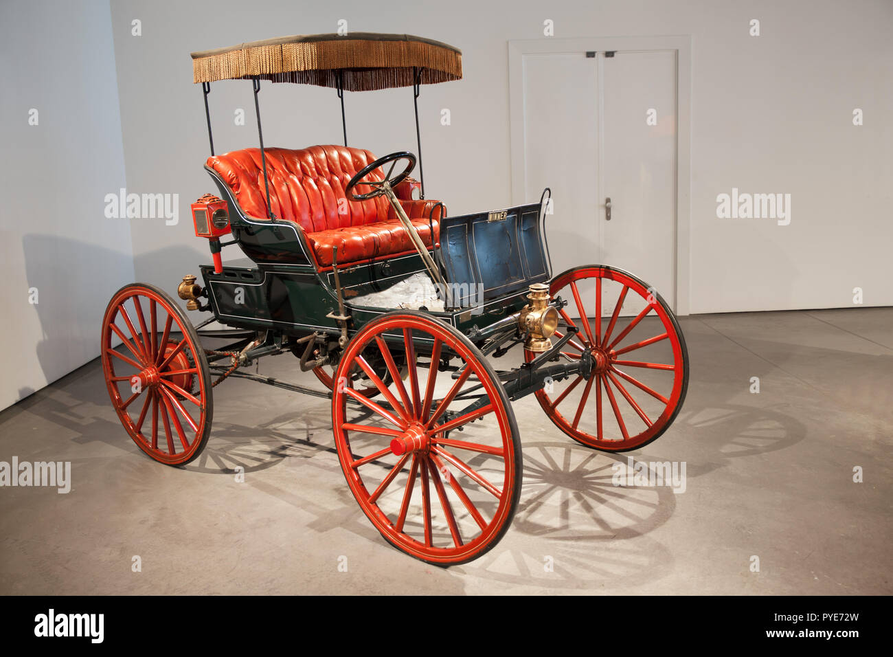 More than a hundred years old car at Malaga Car Museum, Spain - Stock Image