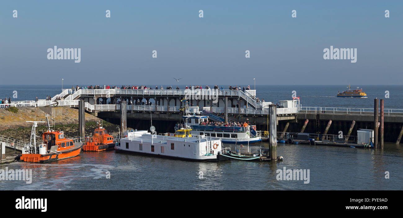 harbour, Cuxhaven, Lower Saxony, Germany - Stock Image