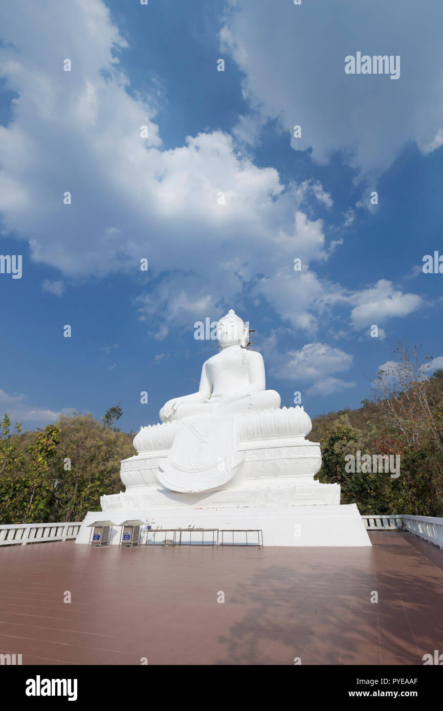 Buddha statue at Wat Phra That Mae Yen, Pai, Thailand - Stock Image