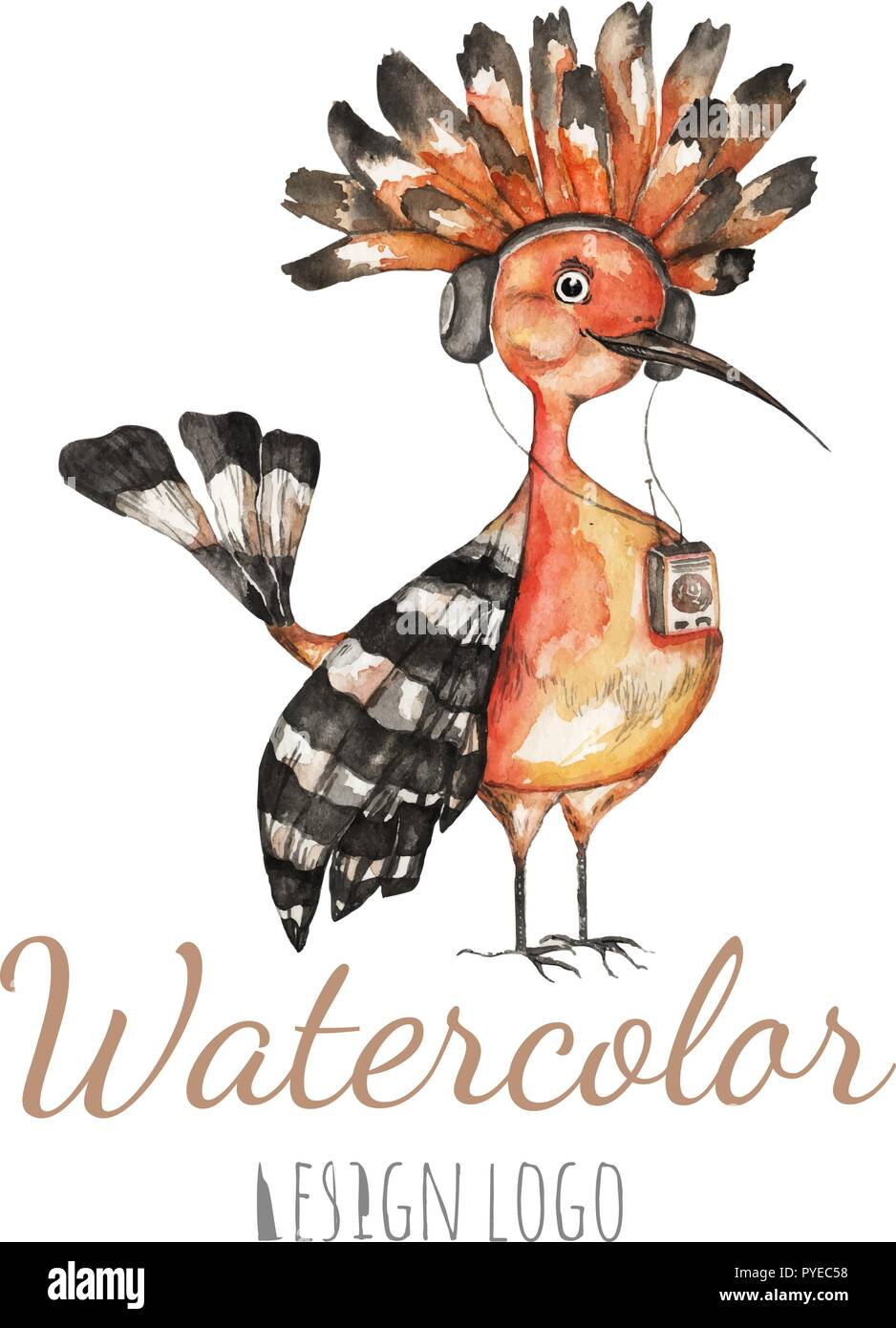 Beautiful Watercolor Illustration For Your Own Design Web Cards