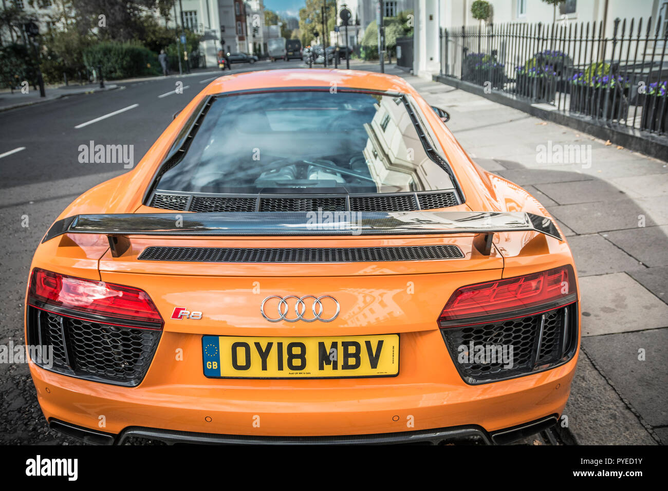 Yellow Audi R8 High Resolution Stock Photography And Images Alamy