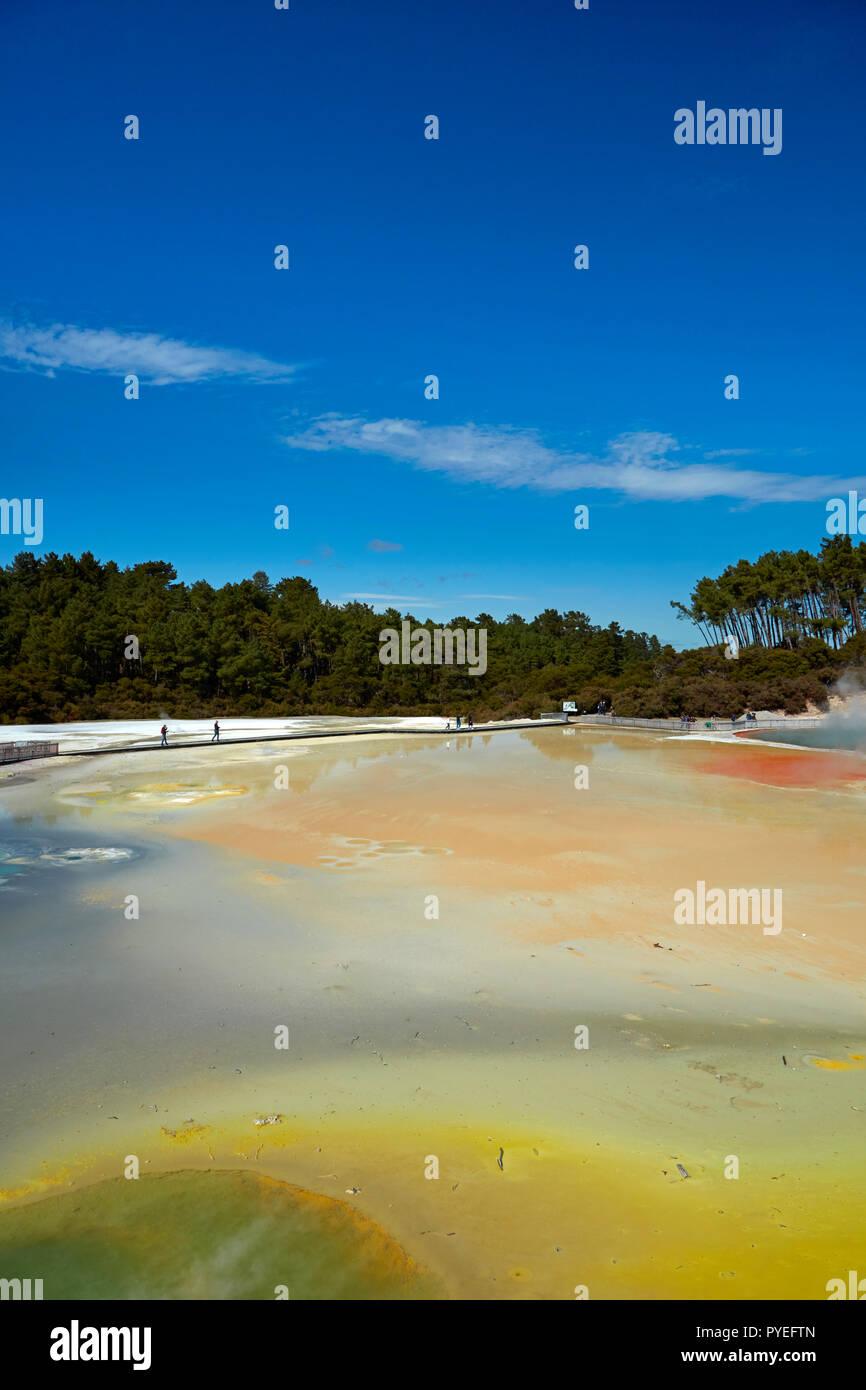Artists Palette, Waiotapu Thermal Reserve, near Rotorua, North Island, New Zealand - Stock Image