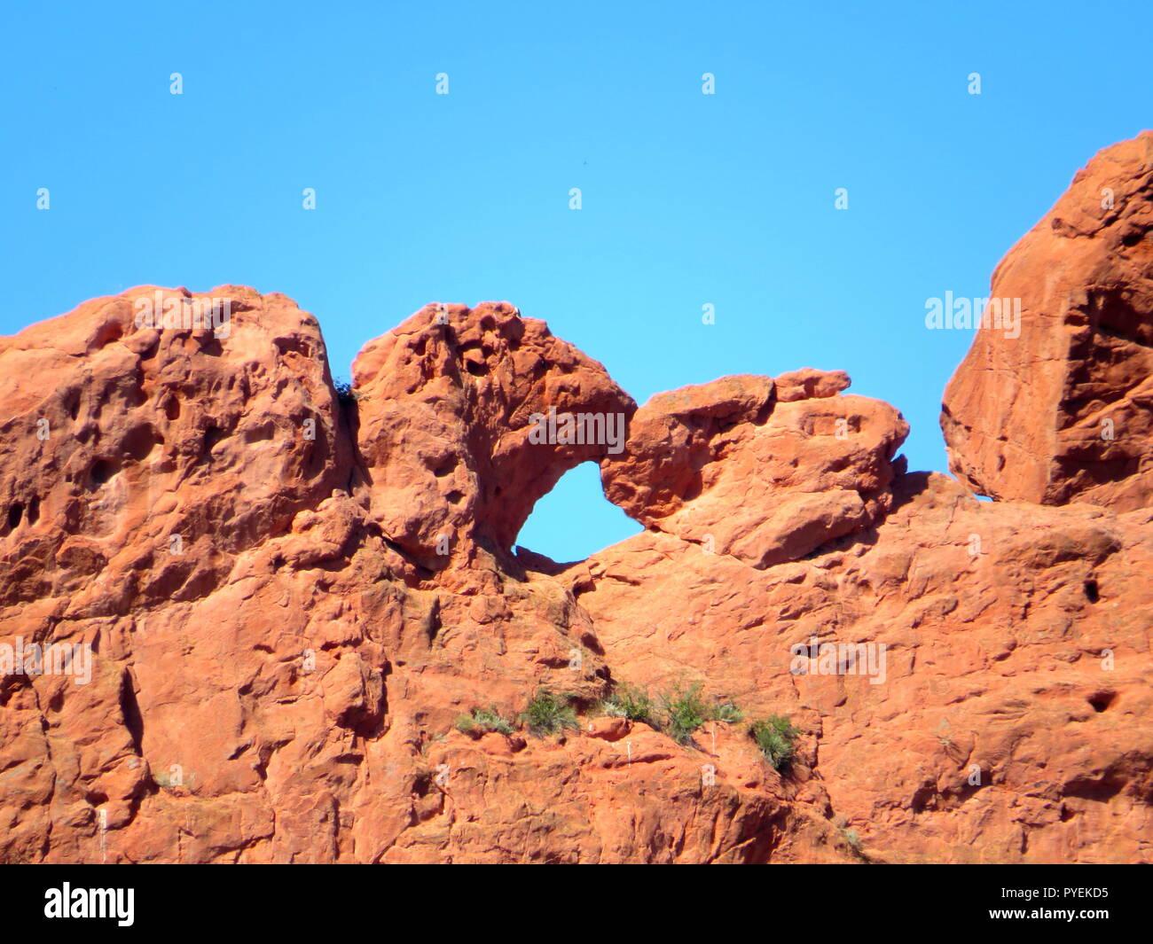 Kissing camel rocks, Garden of the Gods, Colorado - Stock Image