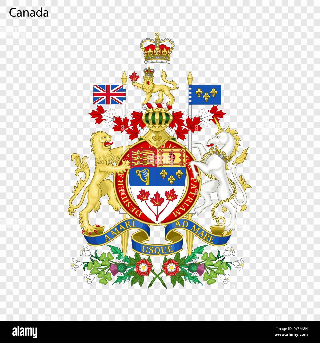 Symbol of Canada  National emblem Stock Vector Art
