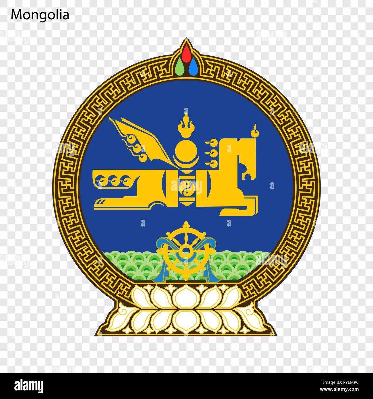 Symbol of Mongolia. National emblem - Stock Vector