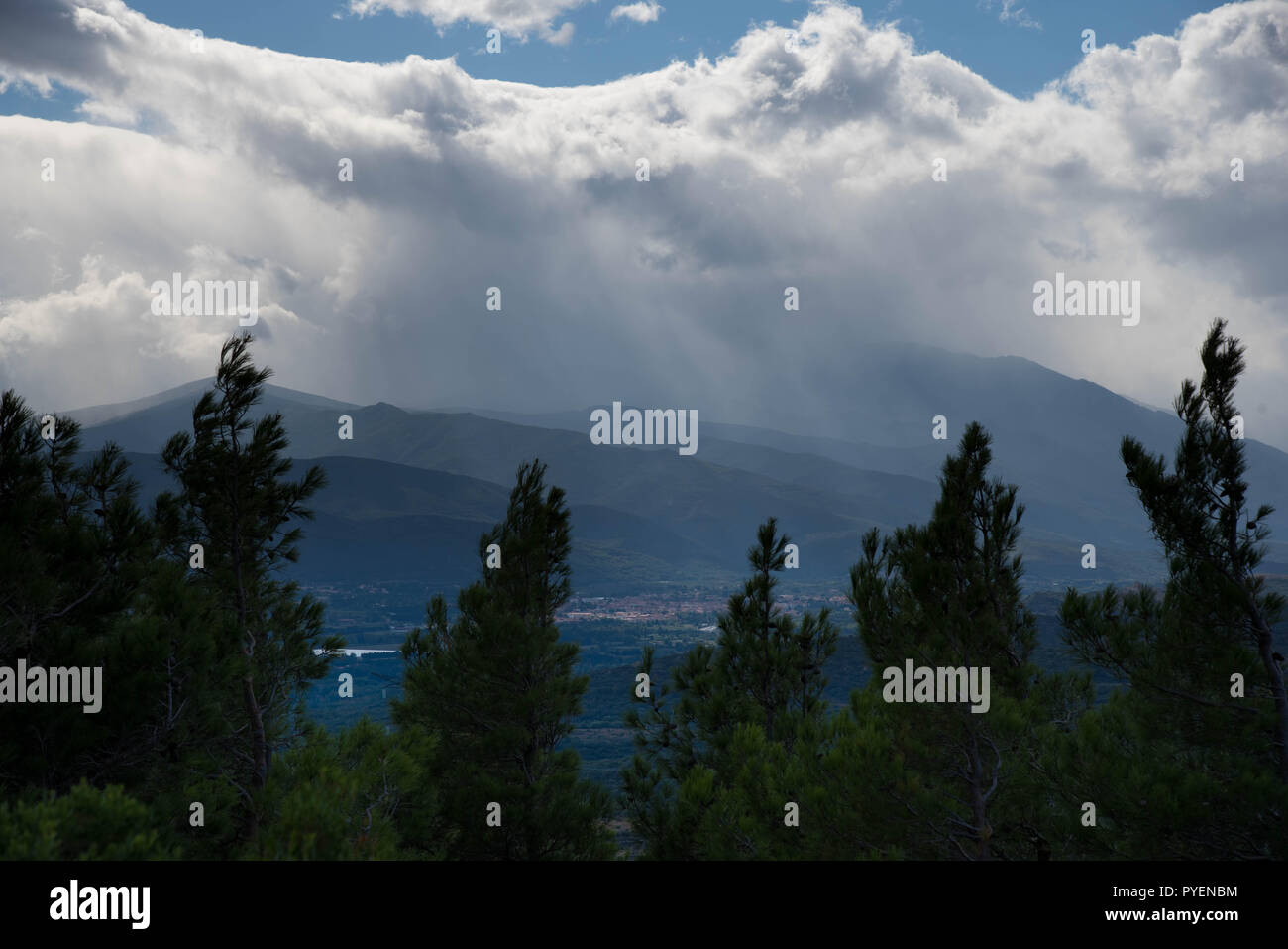 landscape in the pyrenees mountains in France in autumn Stock Photo