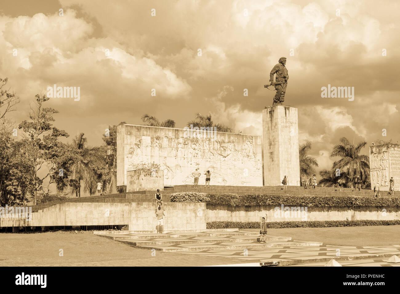 SANTA CLARA, CUBA-JANUARY 6, 2017: Che Guevara Memorial and Museum in Santa clara. Che Guevara was a commander in the Rebel Army who overthrew Batista - Stock Image
