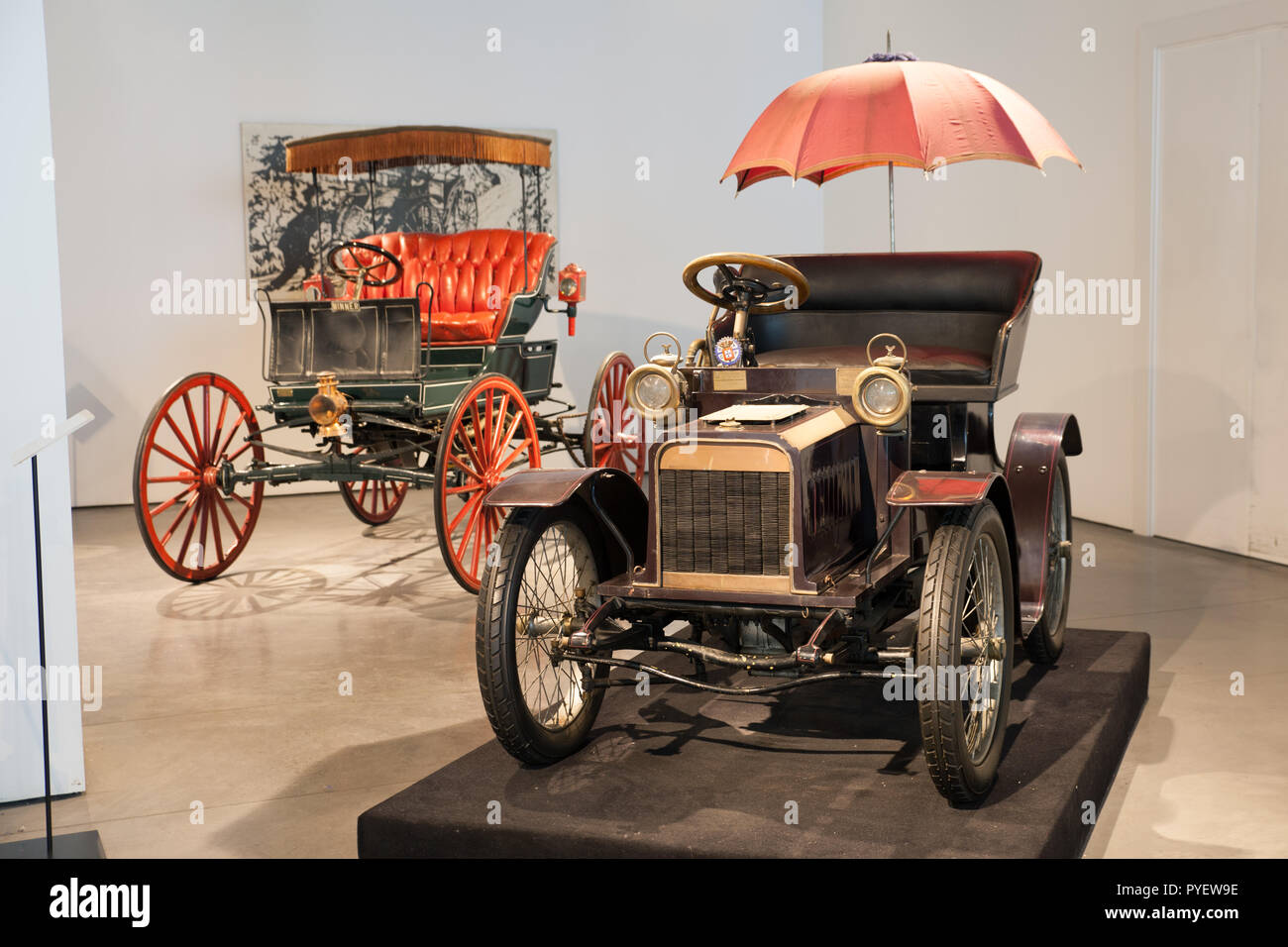 Malaga, Spain: April 28, 2013: Minerva Type A classic car. Minerva was a respected car manufacturer early 20th century. The company was also called a  - Stock Image