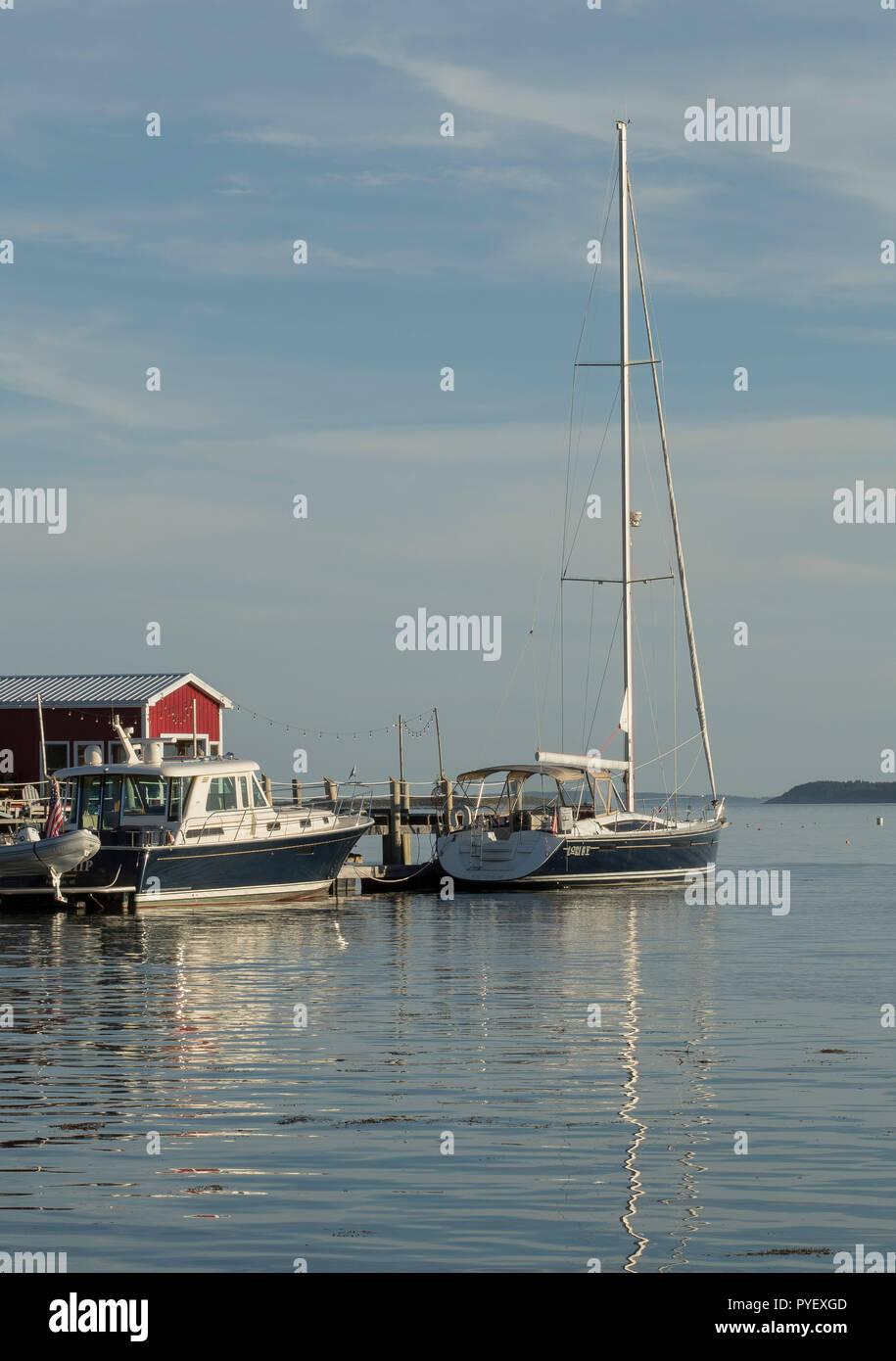 Fishing Boats, Tenants Harbor, Port Clyde, Maine - Stock Image