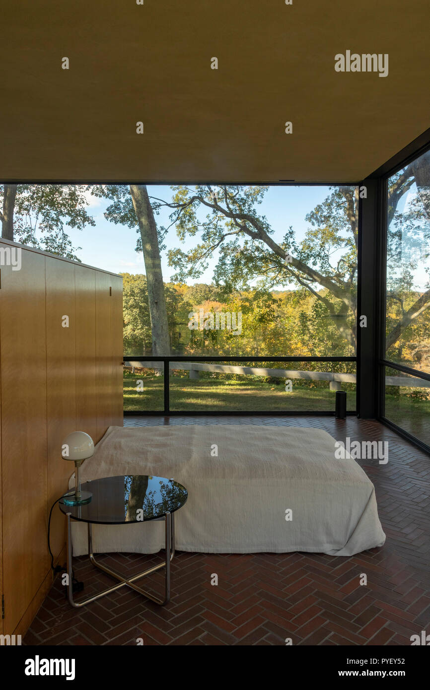 The Glass House Or Johnson House Built In 1949 Is Now A