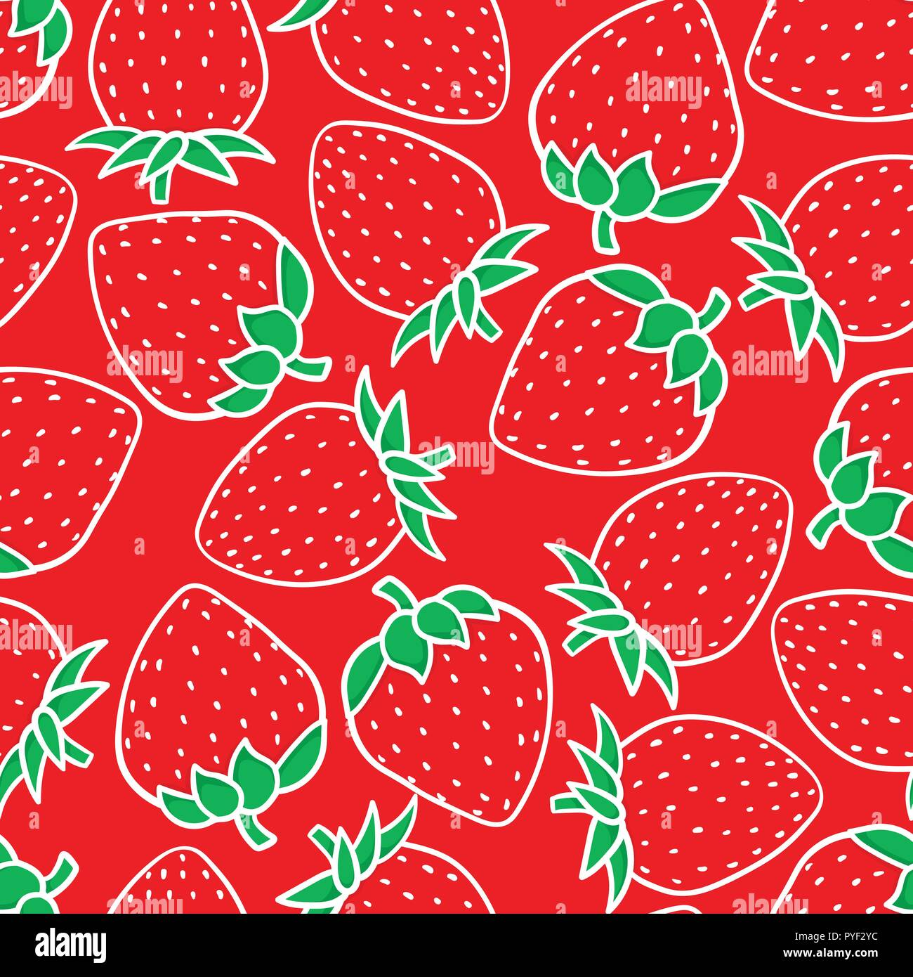Hand Drawing Strawberry Fashion Sketch Seamless Pattern Isolated On Red Background Vector Illustration Holiday Merry Christmas Sweet Print Kids Design Texture Stock Vector Image Art Alamy