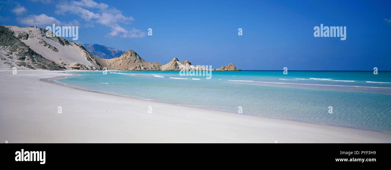 Yemen, Socotra island, Qalansia beach. - Stock Image