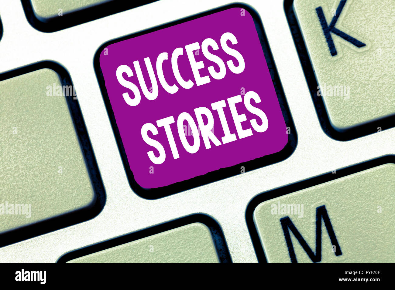 Text sign showing Success Stories. Conceptual photo life of rule models from how he started to his death. - Stock Image