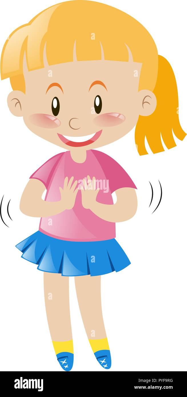 Smiley Face Cartoon Girl