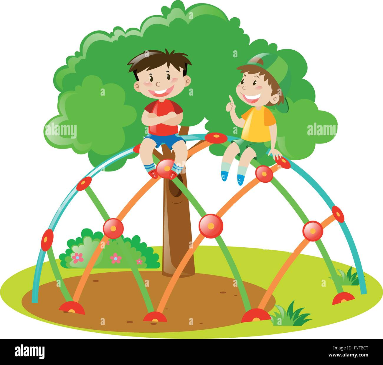 Tree Climbing Child Stock Vector Images Alamy