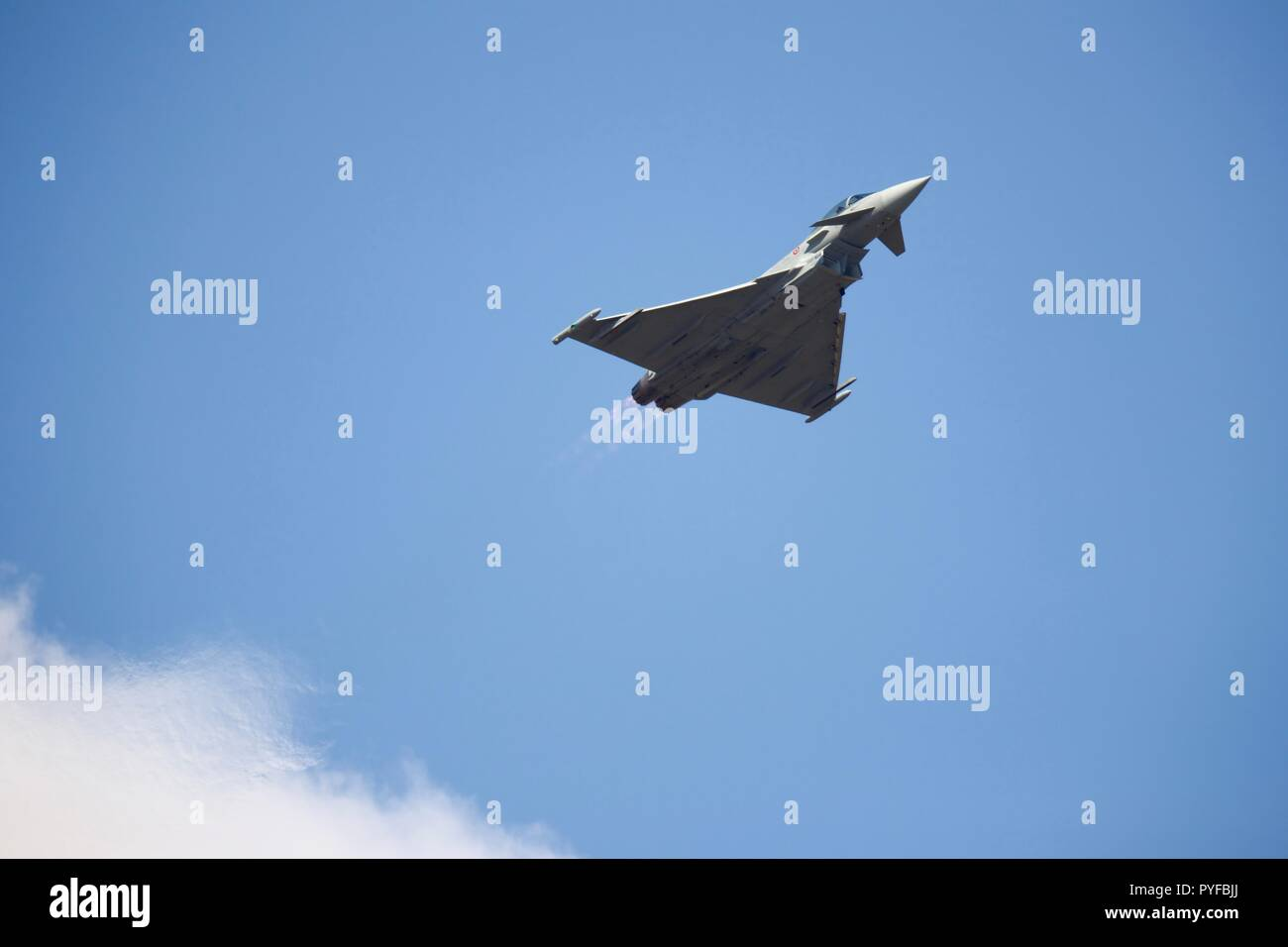 Italian Air Force F-2000A Eurofighter Typhoon at the 2018 Royal International Air Tattoo - Stock Image