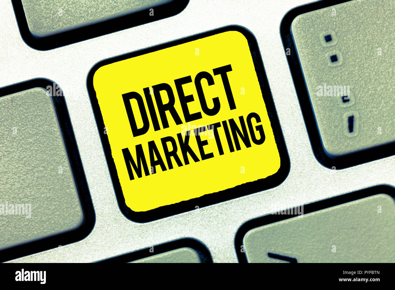 Text sign showing Direct Marketing. Conceptual photo business of selling products or services to public. - Stock Image