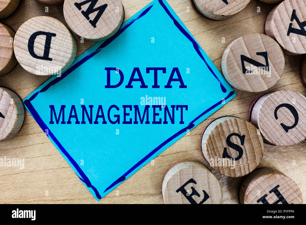 Word writing text Data Management. Business concept for The practice of organizing and maintaining data processes. - Stock Image