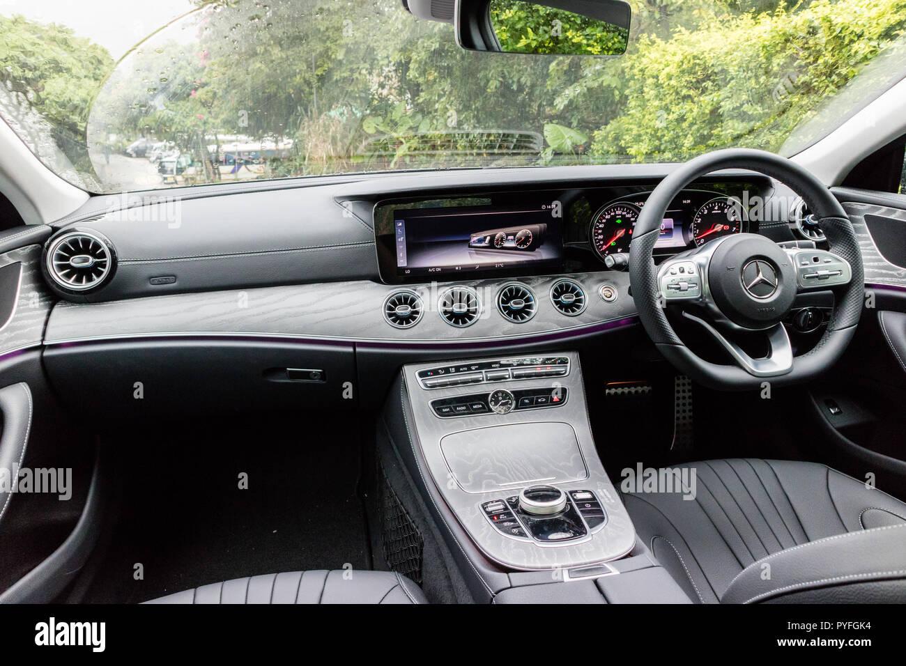 Hong Kong China June 12 2018 Mercedes Benz Cls 2018 Interior