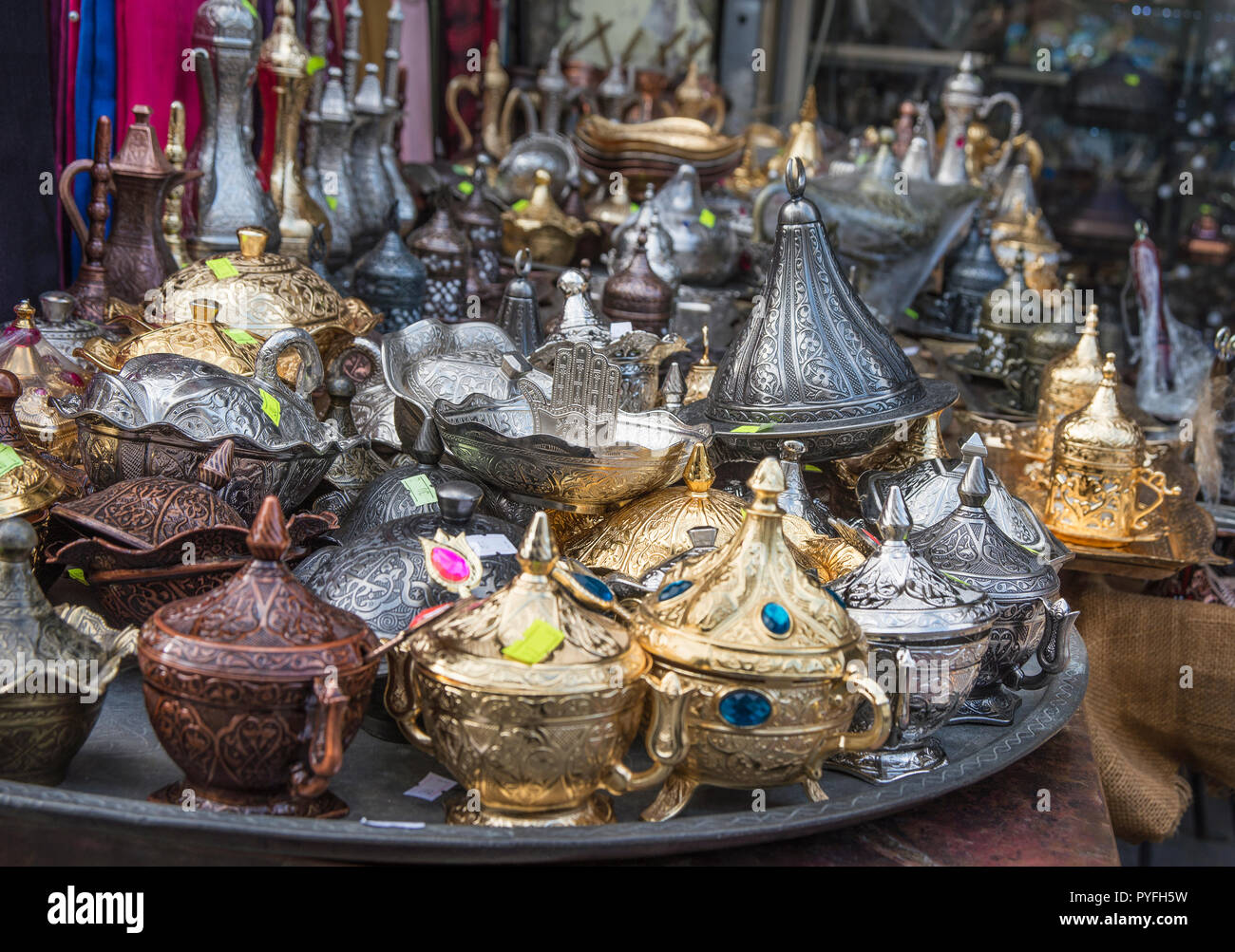 Souvenirs shops in historic old town of Istanbul Stock Photo