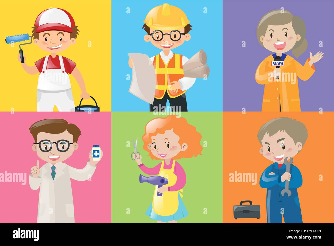 Different Jobs Stock Vector Images Alamy