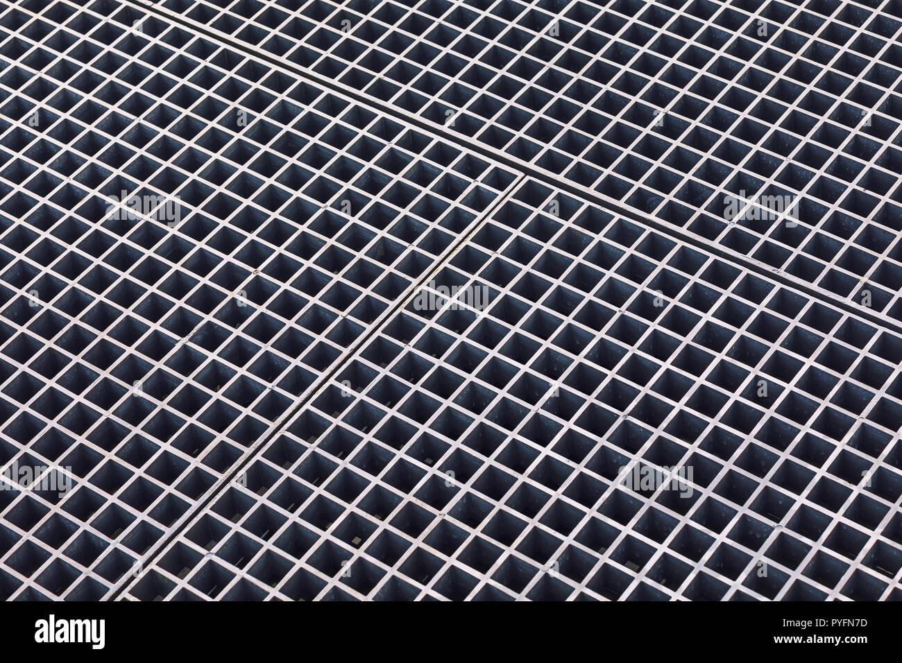 Stainless steel metal lattice texture - Stock Image