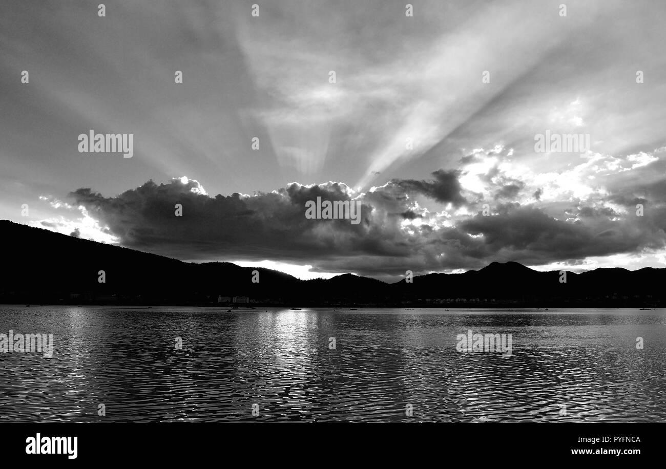 Sunset  Lake - Stock Image