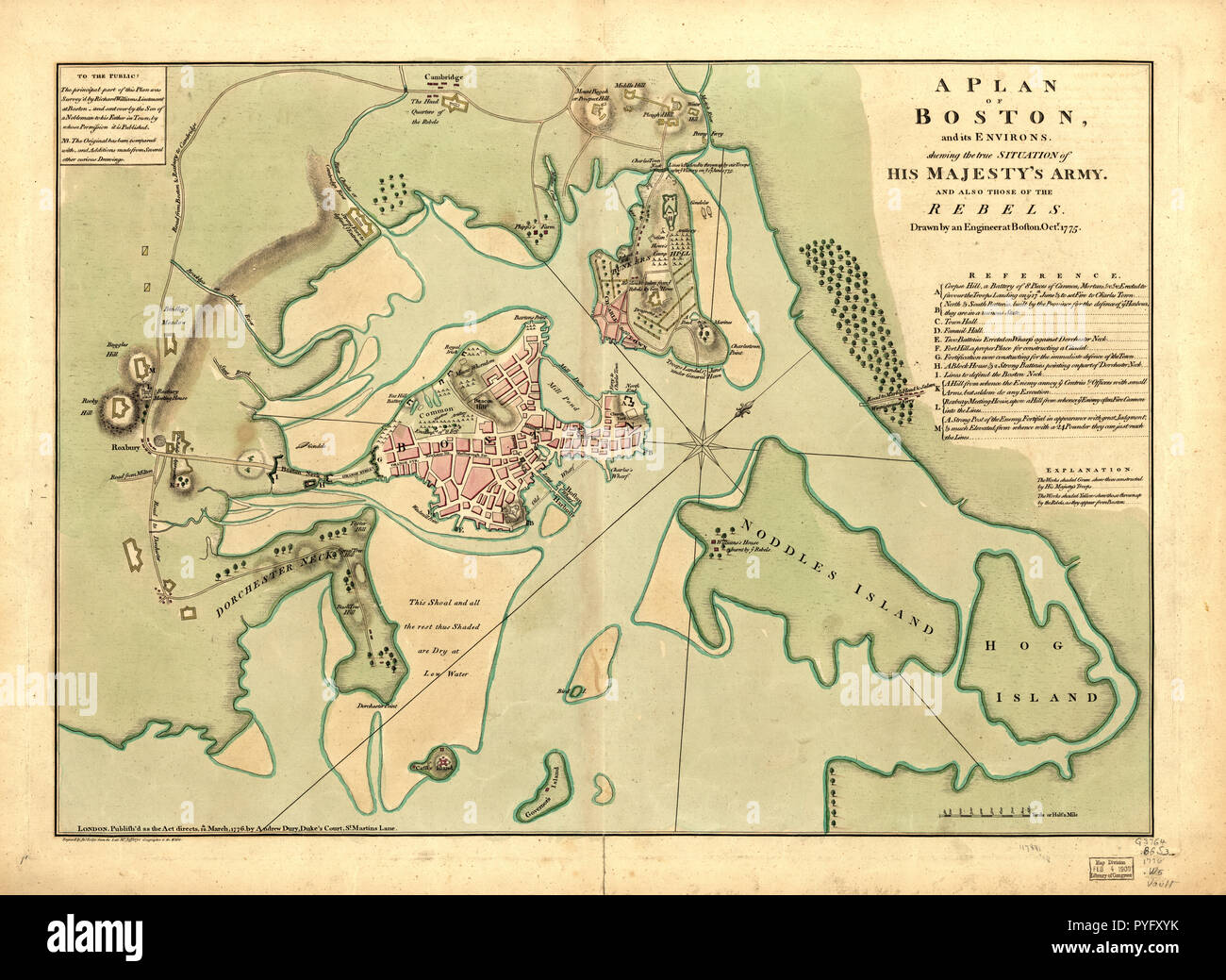 1776 map of boston Map Of Boston 1776 High Resolution Stock Photography And Images 1776 map of boston