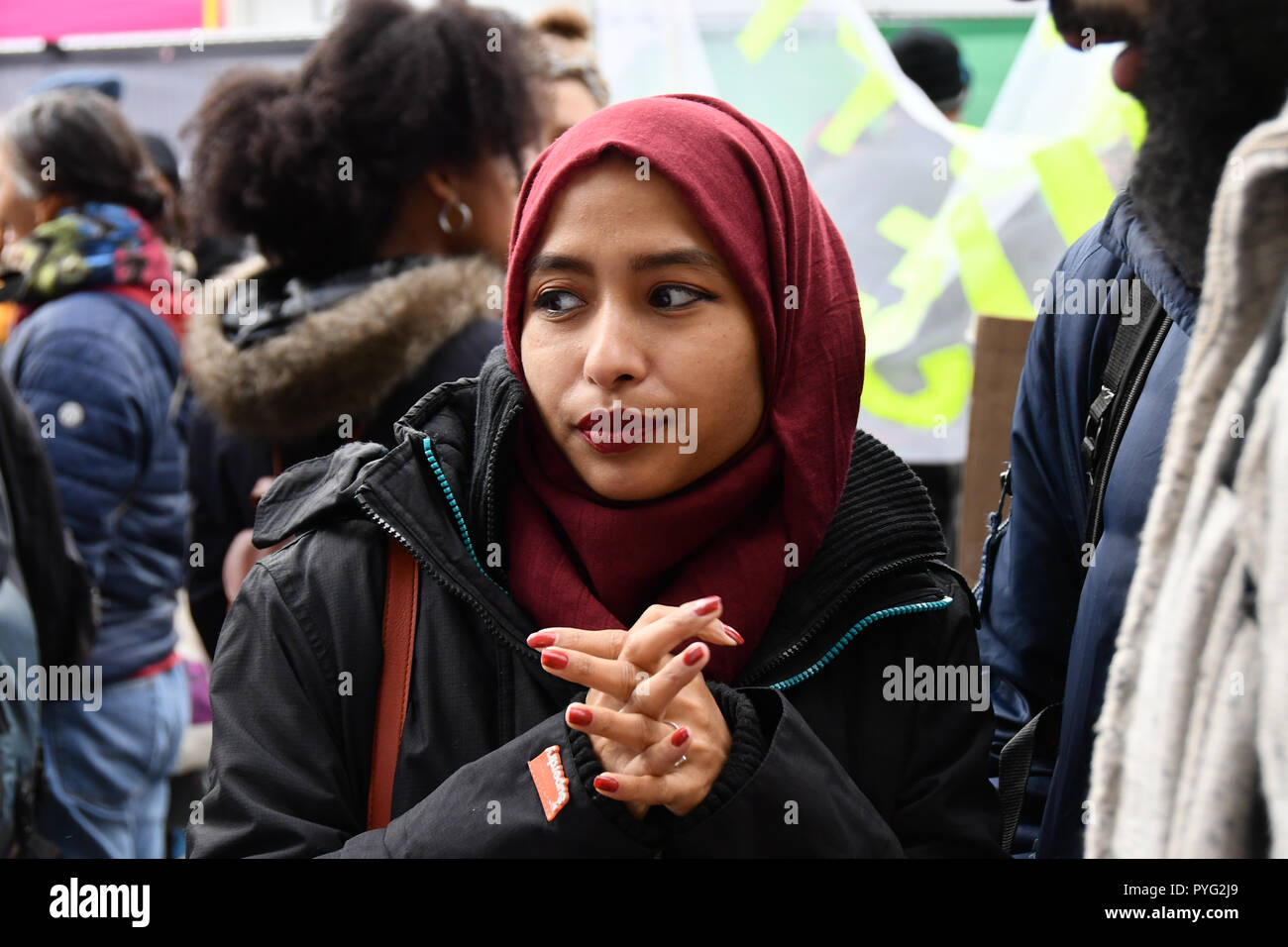 London, UK. 27th October 2018. Victims of white , black and Asian the United Families and Friends Campaign (UFFC) 20th Anniversary Procession march to Downing Street demand ask demand justice for their love one killed by polices on 27 October 2018, London, UK. Credit: Picture Capital/Alamy Live News - Stock Image