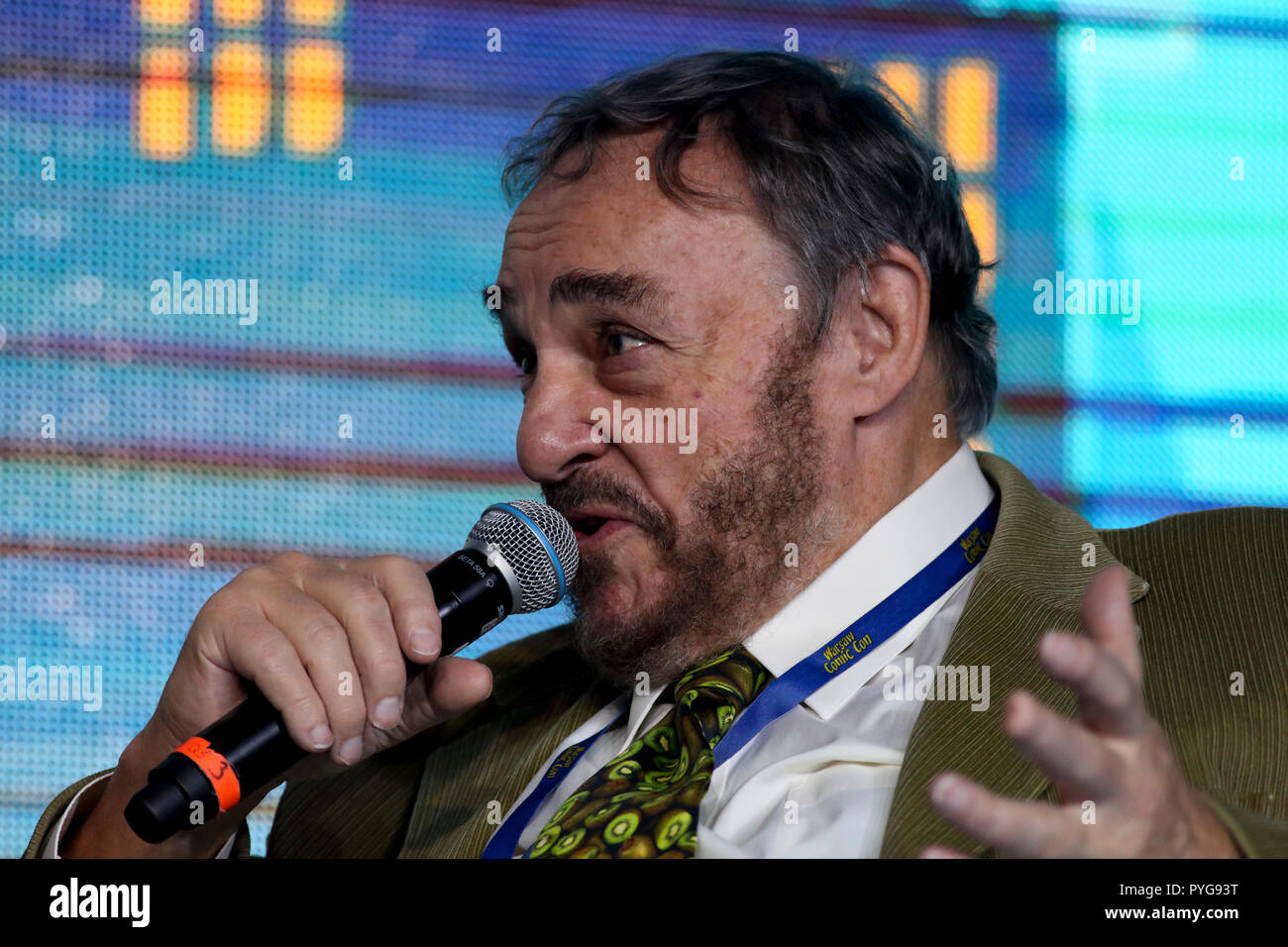 PTAK Warsaw Expo, Nadarzyn, Poland. October 27th, 2018. 4th edition of Warsaw Comic Con at  PTAK Warsaw Expo in Nadarzyn, Poland. Pictured: John Rhys-Davies  © Piotr Zajac/Alamy Live News - Stock Image