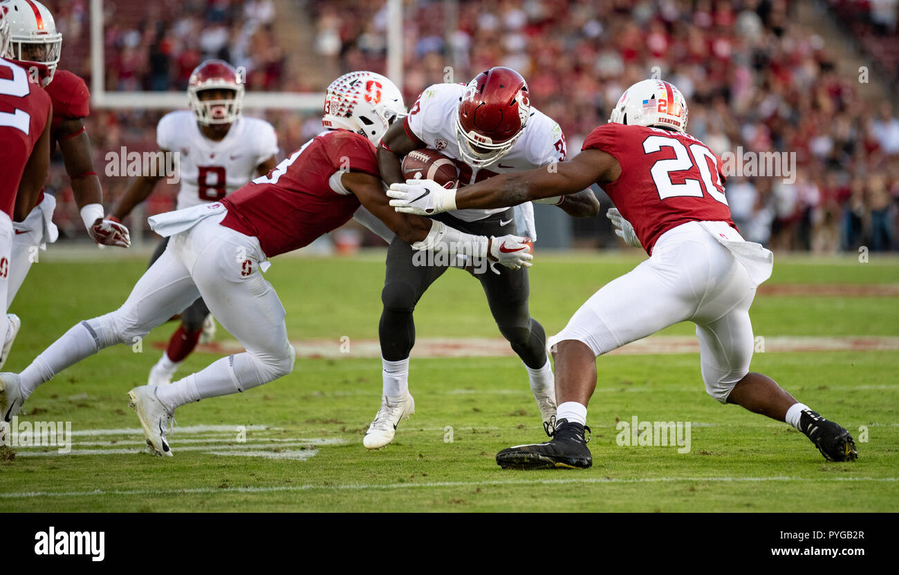 huge selection of dc095 aea29 Washington State Cougars running back James Williams (32) pushes against  the Cardinal defense, during a NCAA football game between the Washington  State ...