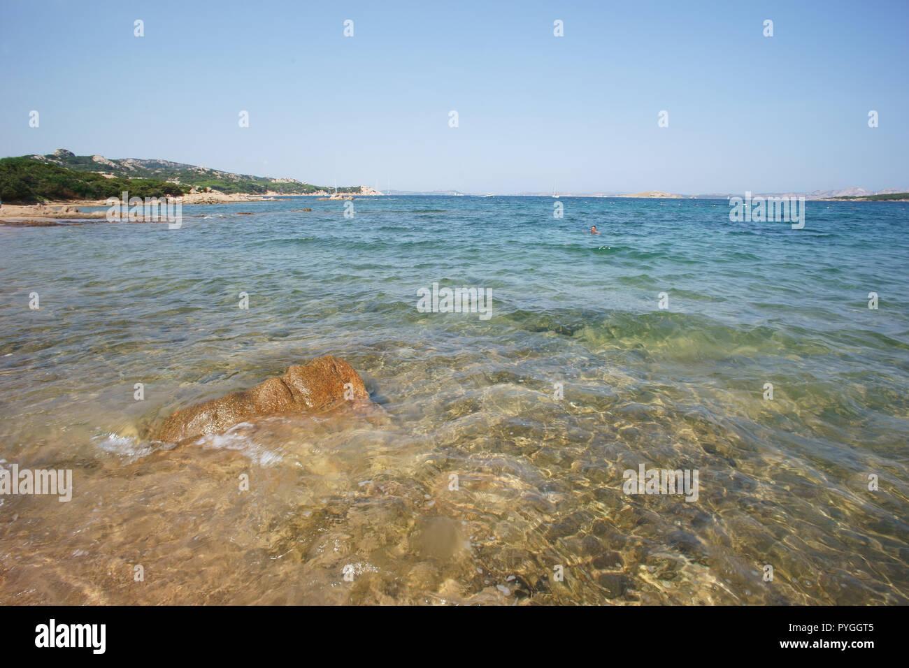 Liscia vacca beach, costa smeralda, Sardinia, italy Stock Photo