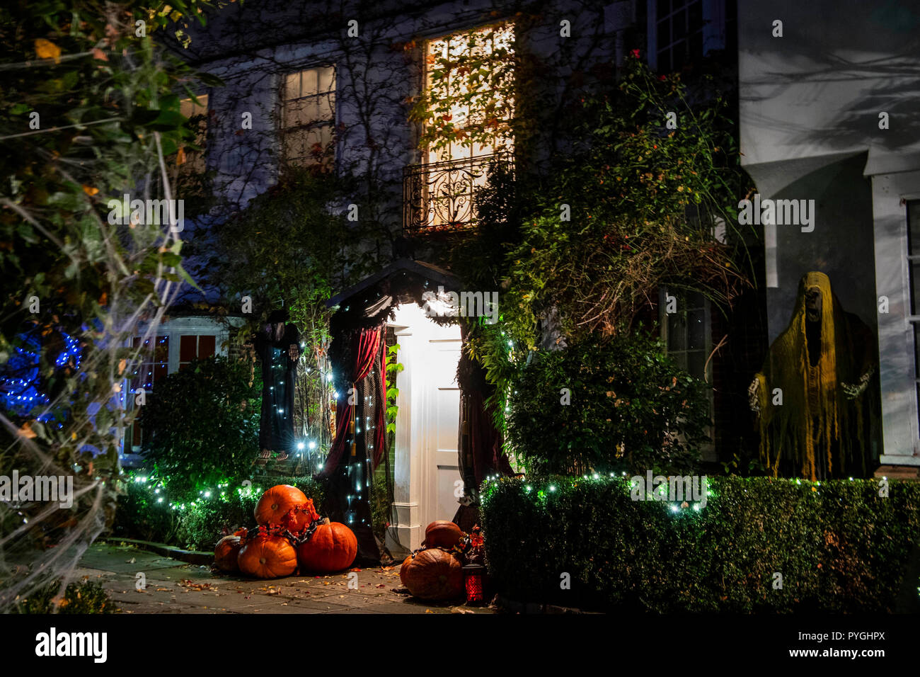 Halloween decorations outside Jonathan Ross s house in north